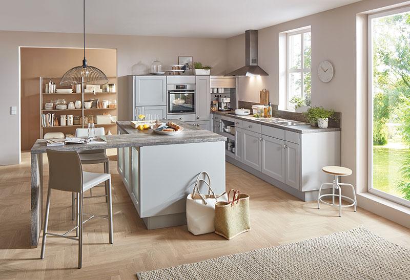Landhaus Küche im modernen Look