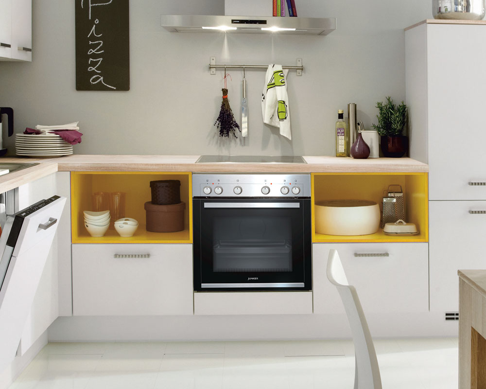 farbliche Akzente in einer Küche